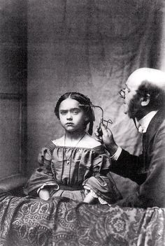 Electro-physiology sessions conducted by Dr. Duchenne and photographed by Adrien Tournachon, Paris, 1862