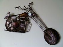 Trend wandschmuck metall wanddeko bike