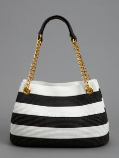 NEW ARRIVALS | Striped Straw Tote | Caché