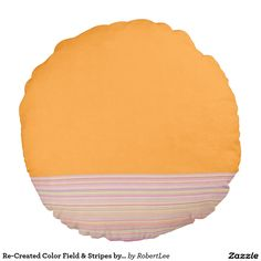 Re-Created Color Field & Stripes by Robert S. Lee Round Pillow #Robert #S. #Lee #pillow #art #artist #graphic #design #colors #kids #children #girls #boys #style #throw #cover #for #her #him #gift #want #need #abstract #home #office #den #family #room #bedroom #living #customizable