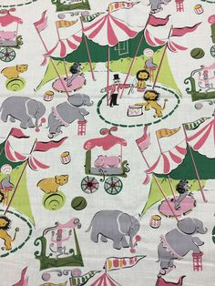 New on the bolt- this listing is for ONE yard of Vintage Circus fabric by Anna Griffin. It has been stored in a non-smoking and non-pet studio.