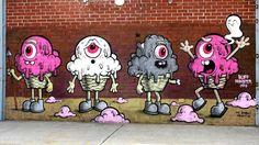 Mural en New York by Buff Monster.  http://www.widewalls.ch/artist/buff-monster/