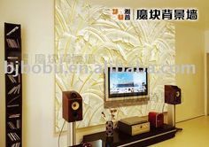 3 d wall paper decorations board | ... > BOBU > 3D wall panel > Vitality 3d background board for wall decor