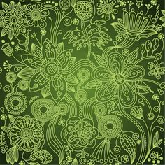European style vintage floral wallpaper pattern - seamless and intricately detailed EPS vector background.