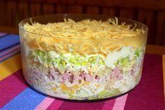 Złocieniecka sałatka warstwowa Chicken Egg Salad, Salad Recipes, Cake Recipes, Savory Pastry, Specialty Foods, Polish Recipes, Food Design, I Love Food, Food Inspiration