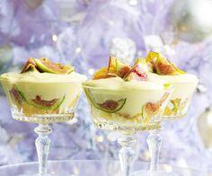 Fig, almond and mascarpone trifle