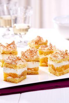 Maracuja-Baiser-Schnitten - Sahnige Ananas-Maracuja-Torte mit Baiserhaube