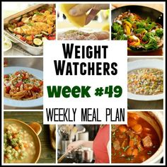 Weight Watchers Weekly Meal Plan for healthy balanced weight loss, with recipes and points plus for breakfast, lunch, dinner, dessert and snacks.