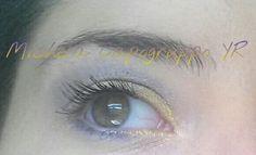 Make up giallo, viola e grigio!
