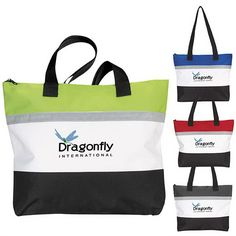 """Exclusive. Atchinson (R). An Edge Above. 600 Denier Polyester.  Standing Room Only Tote.  Classic in design, this great tote has a large interior for carrying all your essentials.  Zippered main compartment.  Shoulder-length handles.  Product Size: 17 1/2"""" w x 13 3/4"""" h x 2 3/4"""" d."""