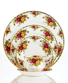 This is the china that my grandmother had when I was growing up. She used it at Thanksgiving and Christmas and it really helped to make the holidays special. This pattern holds wonderful memories for me. Royal Albert Old Country Roses Place Setting - Fine China - Dining & Entertaining - Macys #macysdreamfund
