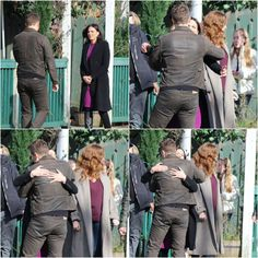 Josh & Lana hugging it out on set - March 3, 2015