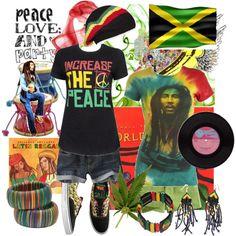 Reggae time by christiana40 on Polyvore featuring moda, Forever 21, Wet Seal, Morgan, Vans, Roots, Bullhead Denim Co., Une, INC International Concepts and reggae