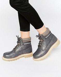 7ac008f4a4e533 Caterpillar Colorado Grey Boots Asos
