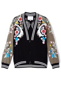 Souvenir Coated Embroidered Jacket by 3.1 Phillip Lim