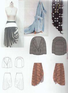 Fashion Sketchbook - fashion design drawings & fabric layout; fashion student portfolio // Sophie Tolhurst