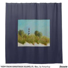 VIEW FROM ANASTASIA ISLAND, FL  Shower Curtain