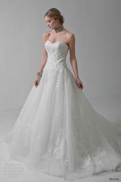 jillian 2017 bridal strapless sweetheart neckline heavily embellished bodice classic a  line wedding dress chapel train (marlene) mv
