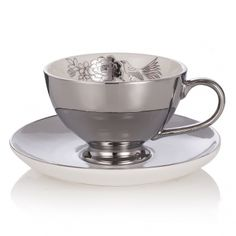 Miss Etoile Silver Flower Cup and Saucer |
