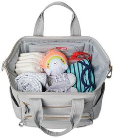 Skip Hop Mainframe Wide Open Diaper Backpack & Reviews - All Kids' Accessories - Kids - Macy's Cool Baby Clothes, Neutral Baby Clothes, Diaper Bag Backpack, Backpack Straps, Backpack Reviews, Double Strollers, Travel Purse, Dream Baby, Baby Diaper Bags