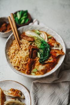 This vegan ramen has all the ingredients of traditional ramen, but every b . - This vegan ramen has all the ingredients of traditional ramen, but every ingredient … – Healthi - Ramen Recipes, Asian Recipes, Vegetarian Recipes, Cooking Recipes, Healthy Recipes, Vegetarian Ramen, Easy Recipes, Vegan Soups, Dinner Recipes