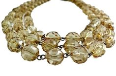 Multi Strand Necklace Faceted Lucite Beads by EclecticVintager, $20.00