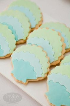 Seashell cookies for Deep Sea VBS 2016 Little Mermaid Birthday, Little Mermaid Parties, Cakepops, Seashell Cookies, Mermaid Cookies, Ocean Party, Beach Party, Mermaid Beach, Mermaid Shell