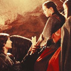 Prince Caspian and Susan. The Chronicles of Narnia