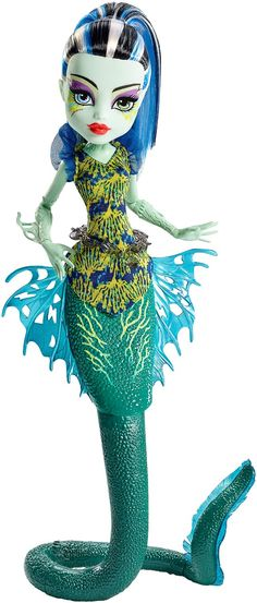 Monster High Great Scarrier Reef Glowsome Ghoulfish Frankie Doll
