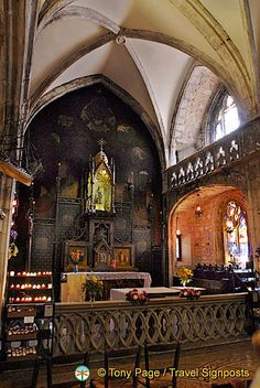 Black Madonna in Chapel of Notre-Dame, Rocamadour, France