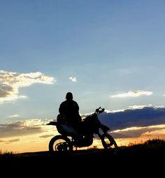 Sunset rides. Yamaha WR250F.