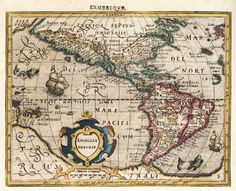 vintage map art in latin of americas from by VintageWorldMaps