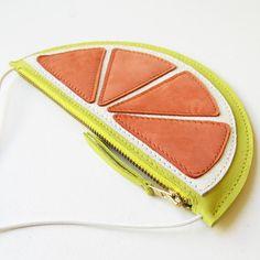 Fruit wallet Mini Grapefruit purse Kids wallet kids by LaLisette