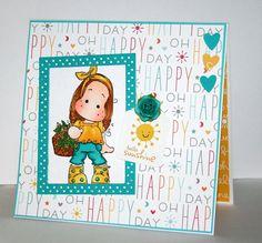 Beautiful handmade Hello Sunshine card with Tilda