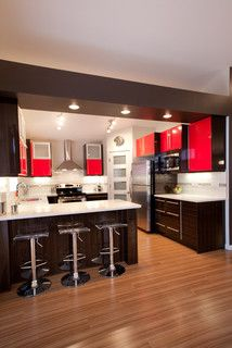 How To Incorporate Contemporary Style Kitchen Designs In Your Home Kitchen Room Design, Kitchen Cabinet Design, Modern Kitchen Design, Home Decor Kitchen, Interior Design Kitchen, Kitchen Furniture, Home Kitchens, Kitchen Ideas, Kitchen Country