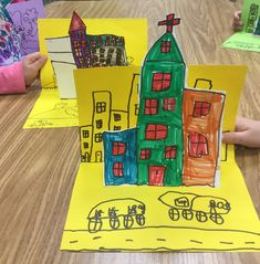 Mrs. Knight's Smartest Artists: Pop-up architecture and paper sculpture in K