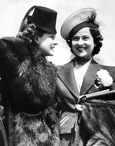 Norma Shearer & Merle Oberon