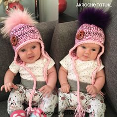 crochet baby hat pattern  Patron tuque bébé au crochet Knitting Hats, Knit Hats, Crochet Hats, Crochet Patterns, Crafts, Etsy, Boss, Tricot, Knitted Hats