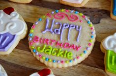 Colorful Happy Birthday Cookie