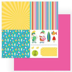 Photo Play Paper Tulla and Norberts Excellent Adventure Quad 1 Paper Beach Scrapbook Layouts, Scrapbook Paper, Adventure Photos, Tiny Prints, Summer Memories, Papers Co, Paper Background, Paper Design, Quad