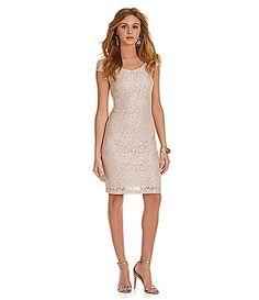 Sequin Hearts Cap Sleeve Knee Length Lace Dress #Dillards