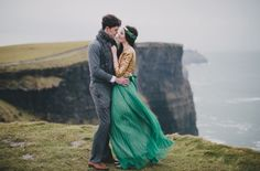 spring wedding Ireland: at the Cliffs of Moher www.celticweddingmusic.com