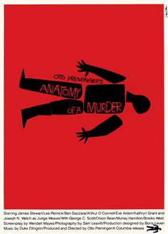 Collection of movie posters by Saul Bass.  http://www.saulbassposterarchive.com/gallery/film-posters/
