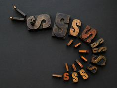 """Wood type shrimp by design consultancy Johnson Banks. It is the agency's contribution to online wood type project, """"Almost Extinct"""". Essentially, the idea of the project is to explore the use of wood type to illustrate and symbolise animals, and highlight the dying craft of wood type in the process."""