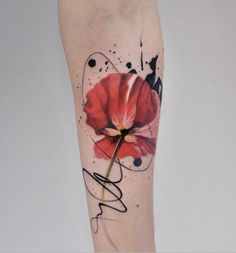 Awesome Tattoos That Look Like Watercolor Art Complete With Ink Splashes Blots