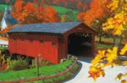 Maine.. in the Fall.  Traveled through New England enjoying many covered bridges, built in late 1700s and early 1800s..