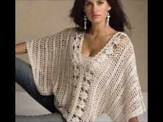 "Blouse with Sleeves in Crochet Pattern free ""Mayo"" (Part 1) by Maricita Colours in English - YouTube"