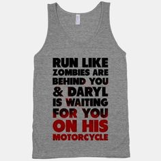 BAHAHAHA Daryl isn't exactly my 'type,' but this is hilarious!  23 More Workout Tanks To Not Work Out In