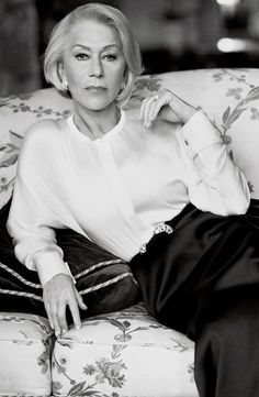 "Helen Mirren by Mikael Jansson for Vogue US, March 2012. One of those women that just makes you think ""I hope I look half this good when I'm her age."""