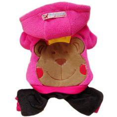 Urparcel Dog Pet Warm Fleece Pink Bear Hoodie Coat Apparel Jumpsuit Clothes King S - http://www.thepuppy.org/urparcel-dog-pet-warm-fleece-pink-bear-hoodie-coat-apparel-jumpsuit-clothes-king-s/
